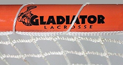 Gladiator Official Lacrosse Goal Net, Orange, 100% Steel Frame, 6 x 6-Foot