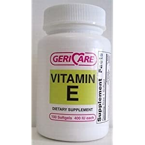 GeriCare Vitamin E Soft Gel, 400 IU, 100 Count (2 Pack)