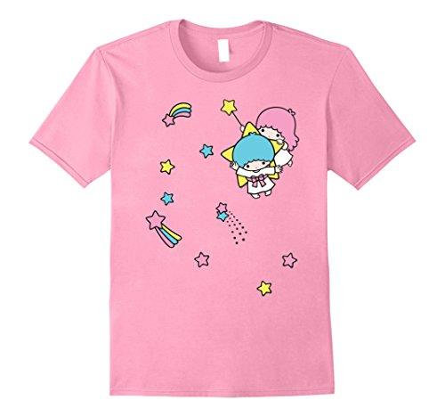Mens Little Twin Stars Rainbow Stars Tee 3XL Pink from SANRIO