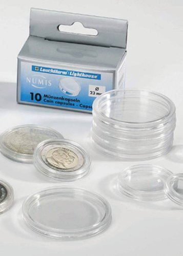10 Lighthouse Coin Capsules for 45mm Coins ()