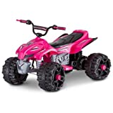 Sport ATV KT1166WMB 12V Rechargeable Battery Powered Ride-On,Top Speed of 2.5 mph, Pink