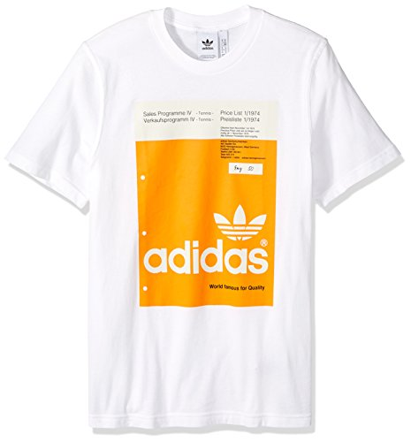 adidas Originals Men's Pantone Tee, white, 2XL (Adidas Block Tshirt)