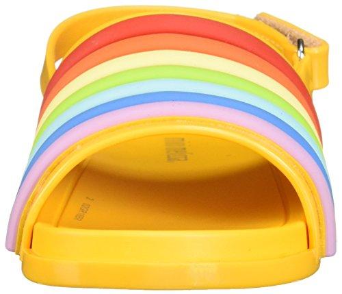 Sandal Girls' Rainbow colorful yellow Melissa Slide Mini mini Beach Flat wq7pW4xCO