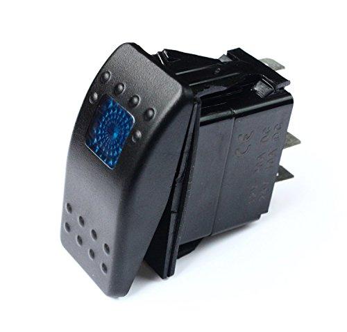 20 Amp Blue Light Rocker Switch Kit Dash 3pin 12V [SR1000BLPFBA] - (Blp Switch)