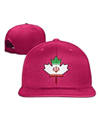 An Ping Iran Flag Canada Maple Leaf-1 Baseball Cap Men/Women Flat Brim Snapback Cap