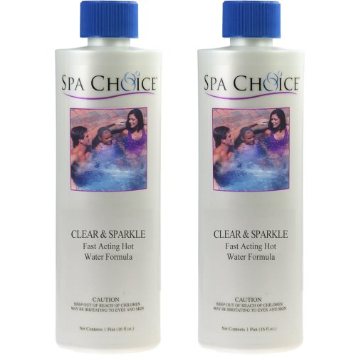 2-Pack Clear & Sparkle Water Clarifier for Spas & Hot Tubs - 2 Pints (32 oz. total)