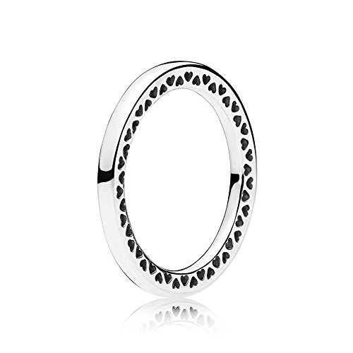 Classic Silver Heart - Pandora Ring 196237-54 Women Silver Hearts Classic