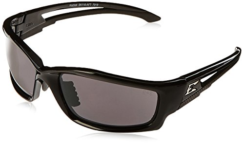 Edge Eyewear SK116-AFT Kazbek Asian Fit, Black with Smoke - Asian Sunglasses For