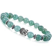 Joya Gift Gemstone 8MM Round Beads Buddha Bead Gemstone Chakra Bracelet for Women Charms Men Jewelry