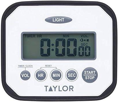 Taylor Pro Digital High Performance Kitchen Timer Impact Splash Proof Countdown Clock For Chefs For Cooking Plastic White Amazon De Kuche Haushalt