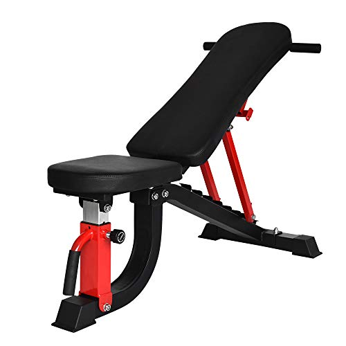 YouTen 800LBS Adjustable Bench Press for Abs Exercise Like Dragon Flag, Easy Moving Versatility Flat Incline Decline Bench, Weight Capacity Home Gym Equipment