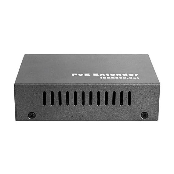 BV-Tech Single Port Gigabit POE+ Extender - Extend 330ft (100m) - 802.3af/at - POE-RP101G 2 1 Port at 10/100/1000 Mbps (Gigabit) Extends POE Signal up to 660ft / 200m (total run length) Mode A and Mode B Compatible