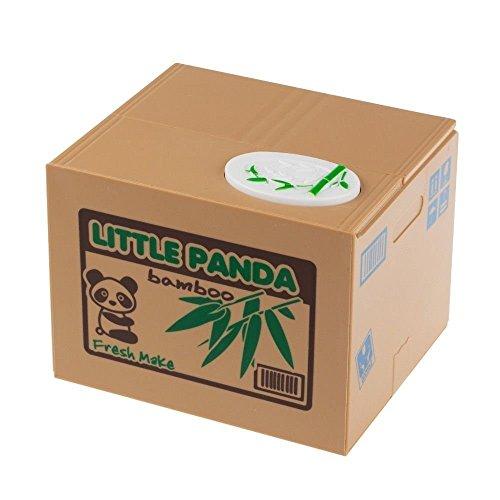 Oliasports Cute Stealing Coin Panda Money Box Piggy Bank