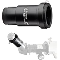 Landove Barlow Lens 5x 1.25 Fully Metal Multi Coated Optical Glass with T adapter M42 0.75 Thread for 1.25 31.7mm Telescopes Eyepiece