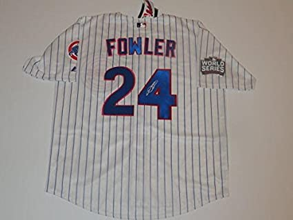 purchase cheap a7ac2 3dcf5 Dexter Fowler Autographed Jersey - #24 2016 World Series ...