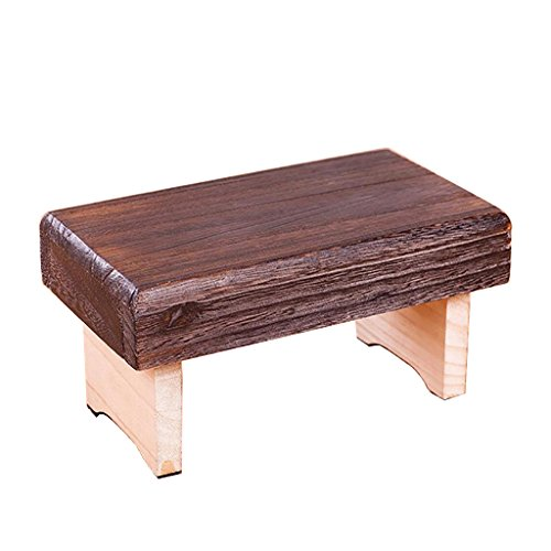 SYF Footstool Japanese and Korean Style Footstool Folding Stool Portable Low Stool Folding Solid Wood Stool 22x12x10cm A+