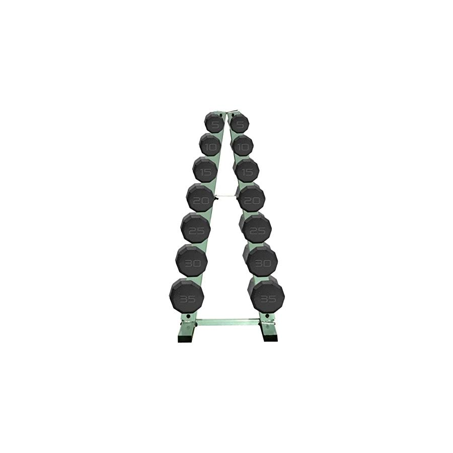 CAP Barbell 280 lb. Dumbbell Set with A Frame Rack