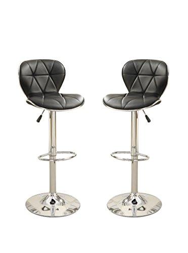 poundex-bobkona-riggan-set-of-two-adjustable-pu-bar-stool-in-black