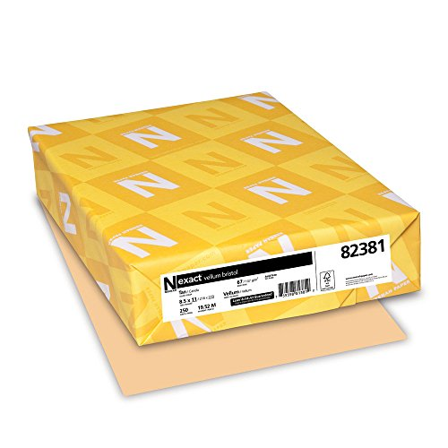 Exact Vellum Bristol, 8.5'' x 11'', 67 lb/147 gsm, Tan, 250 Sheets (82381) by Neenah