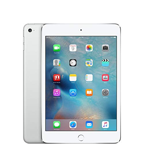 Apple iPad Mini 4, 64GB WiFi White (Renewed)
