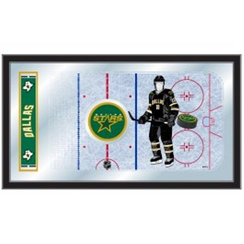 Holland Bar Stool Company NHL Dallas Stars 15x26-Inch Hockey Rink Mirror