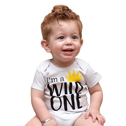 Boys 1st Birthday Outfit I'm a Wild One Yellow Crown Boys 1st Birthday Outfit