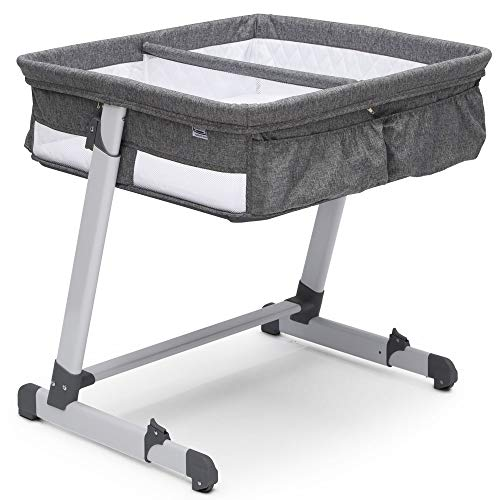 Simmons Kids By The Bed Twin City Sleeper Bassinet, Grey Tweed