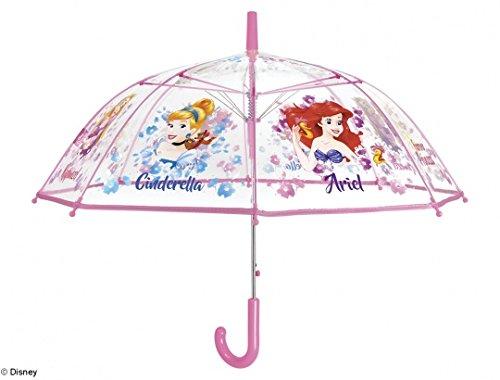 Precioso paraguas transparente con estampado de princesas Disney.