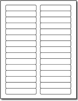 """Inkjet/Laser File Folder Labels - 2/3"""" x 3 7/16"""" - 30 Labels per Sheet - 25 Sheets / 750 Labels"""