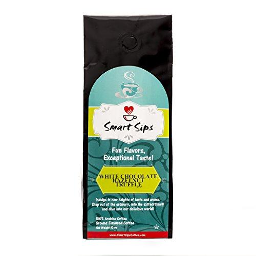 Smart Sips Coffee, White Chocolate Hazelnut Truffle Gourmet Ground Coffee, 10 (Chocolate Truffle Flavored Coffee)