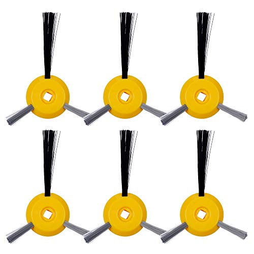 KEEPOW 6 Pack Side Brushes Replacement Parts for Shark ION Robot R85 RV750 RV720 S87 RV850 RV851WV Vacuum -