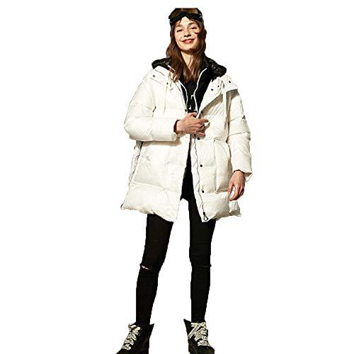 Relleno Blanco Invierno Women Stand Abajo Hooded Essential Abrigo Ainif Collar De Pato Chaqueta 's OwdEpEx