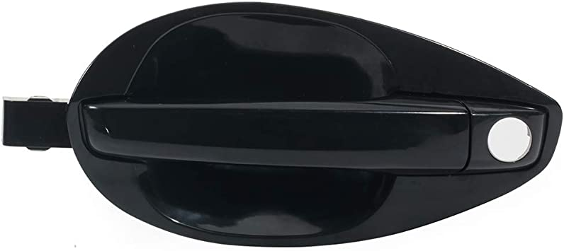 SCITOO Door Handle Exterior Front Left Side Replacement fit for 2003-2008 Hyundai Tiburon Black