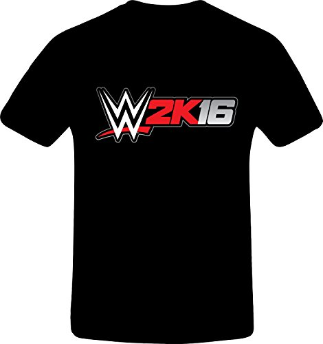 W 2K16 Wrestling - Best Quality Costum Tshirt (4XL, BLACK) (Best N64 Wrestling Games)