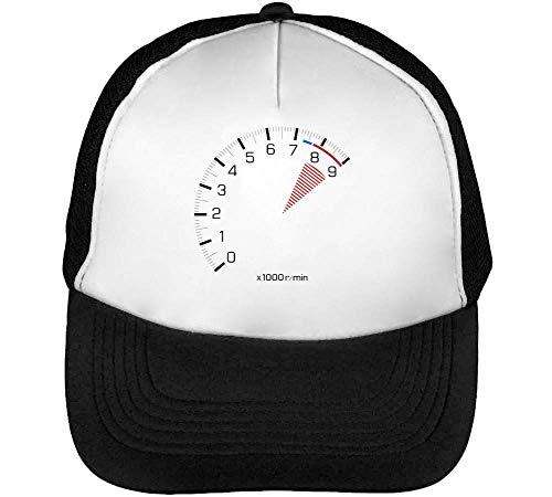 Speedometer Rpm Gorras Hombre Snapback Beisbol Negro Blanco