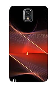 Fashion ZVpwdwG5685Fmncl Case Cover For Galaxy Note 3(3d Beautiful Abstract Red )