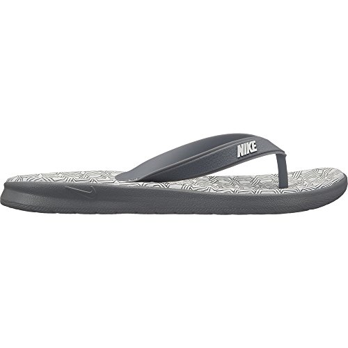 NIKE Women's Solay Thong Sandal Cool Grey/White Size 9 M US