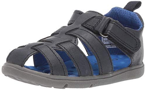 Carter's Every Step Sailor Baby Boy's Walking Fisherman Sandal, Navy 6 M US Infant