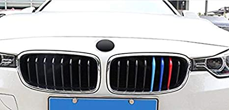 11 Grilles 3 Colors Front Grille Badge Insert Trim Strips Grill Cover Decor For 3 Series GT F34 2013-2017