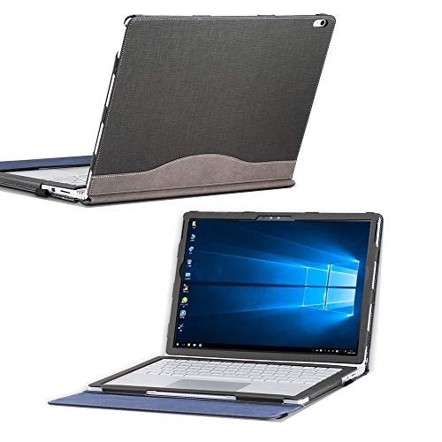 for Microsoft Surface Book 2 15 inch Case, PU Leather Detachable Protective...