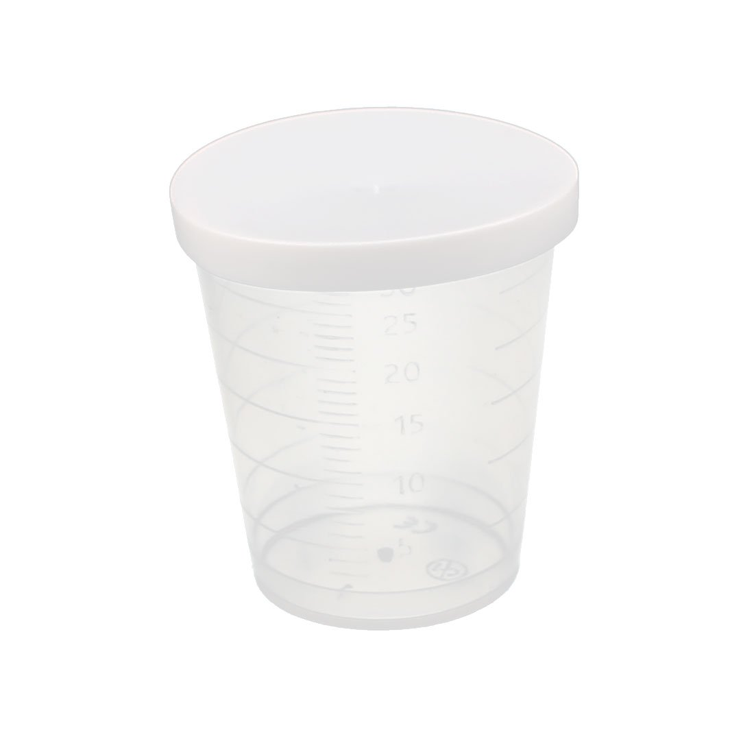 uxcell 30mL Laboratory Transparent Plastic Liquid Container Measuring Cup Beaker