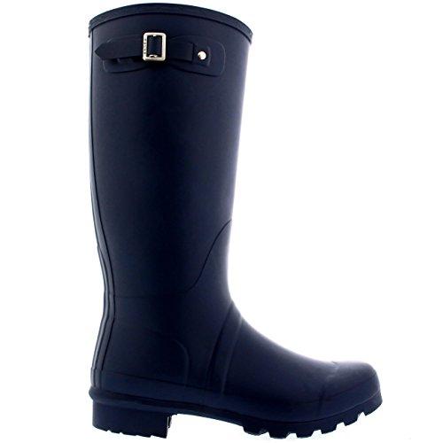 Pioggia A Gomma Polar Extra Impermeabile Stivali Alto Letame Donna Marina Cane Stivali Piedi Di Wide Equestre A7Wv0