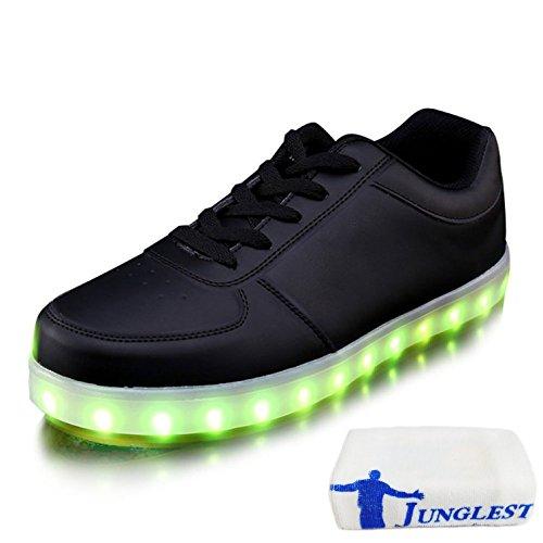 (Presente:pequeña toalla)JUNGLEST USB Carga de la Zapatilla Zapatillas de Deporte Con 7 Colores de Iluminación LED Intermitente Para los Amantes de N c9