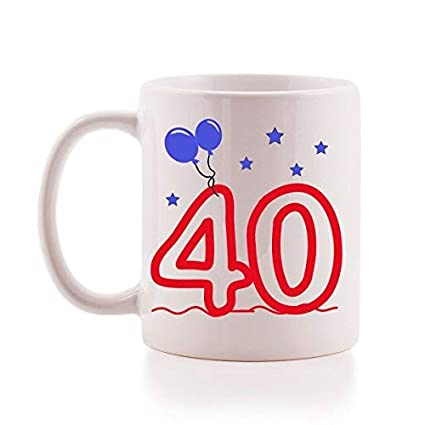 Image Unavailable Not Available For Color 40th Birthday Mug