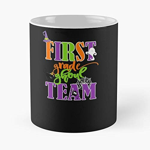 1st Grade Students Cute Halloween Saying Exclusive Design By Kimmicsts - Gift Coffee Mug 11 Oz -