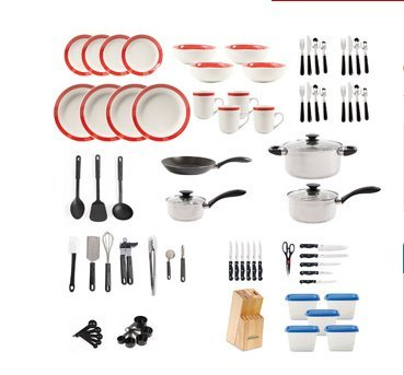 Moving Out Of Home 83 Piece Cookware/Dinnerware Set. Get Started With This Complete  sc 1 st  Amazon.com & Amazon.com: Moving Out Of Home 83 Piece Cookware/Dinnerware Set. Get ...