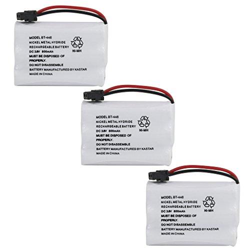 Kastar 3 Pack BT446 Cordless Phone Battery, Genuine Uniden Quality, for Uniden BT-446 BT446, BP-446 BP446, BT-1005 BT1005, TRU8885, TRU8885-2, TRU88852, TRU8888, TRU9460, TRU9465, TRU9480, TCX-800 (Cordless Phone Battery Bt446)