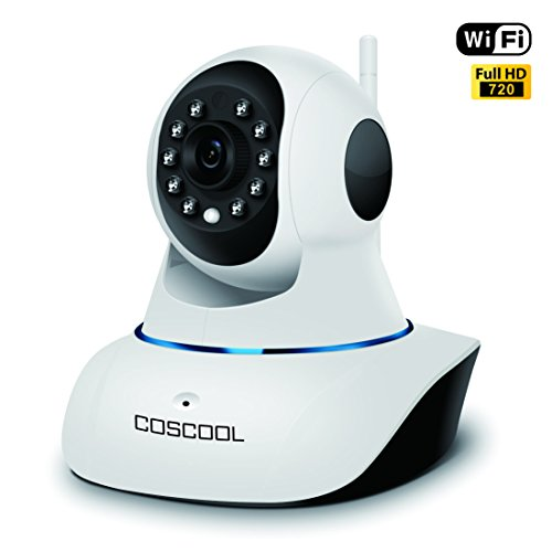 CosCool IP Camera 720P Wireless,Wifi Surveillance Network Security Cam,Microphone Inside,Two Way Audio,Onekey Wifi Fast Setting,Night Vision,ONIVF,Pan/Tilt Movement Baby/Pet Video Monitor Nanny Webcam