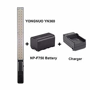 YONGNUO YN360 Hand-LED-Videoleuchte 3200k 5500k RGB Bunte 39.5cm + EACHSHOT...
