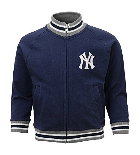 MLB  New York Yankees Boys 4-7 Baseball Run Track Jacket-M (5-6)